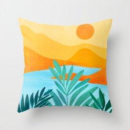 Summer Mountains / Landscape Series Throw Pillow