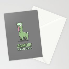 Zombie Alpacalypse Stationery Cards