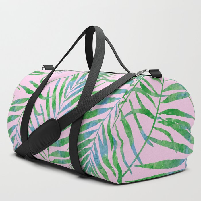 Fern_Leaves_Pink_Duffle_Bag_by_LaVieClaire__SET_OF_3