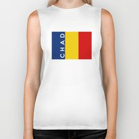 chad wys Biker Tanks featuring chad country flag name text by tony tudor