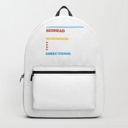Redhead Red Hair Ginger Freckles Redheads Gift Backpack