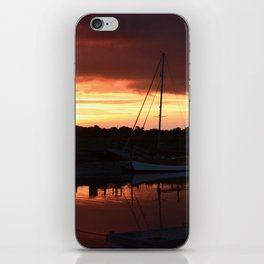 Boats On The River Blyth At Sunset iPhone Skin