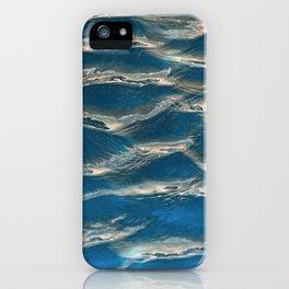 Aqua - blue abstract iPhone Case