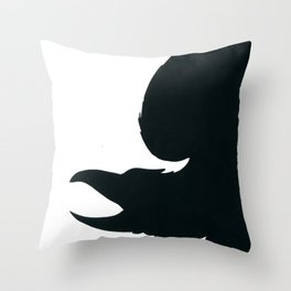 the dark Raven Throw Pillow