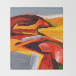The Present Abstract Landscape Throw Blanket