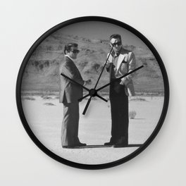 Casino- Ace & Nicky in the Desert Wall Clock