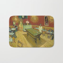 The Night Cafe by Vincent van Gogh, 1888 Bath Mat