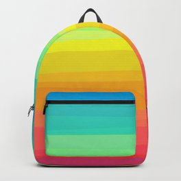 Rainbow abstract colorful Waves inspired Backpack