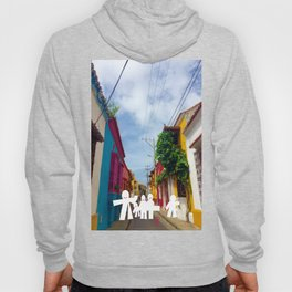 C for Cartagena Fun Cut Out Cartagena Street Print Hoody