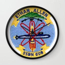 USS ETHAN ALLEN (SSBN-608) PATCH Wall Clock