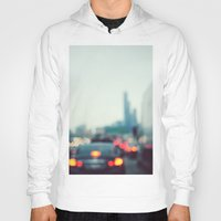 chicago Hoodies featuring Chicago by KimberosePhotography
