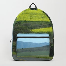 Rolling Hills and Meadows Landscape, South Africa Backpack