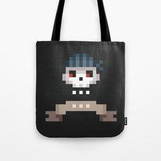 Pixel Skull Tote Bag