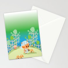 picking mushrooms Stationery Cards