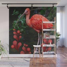 Standing Scarlet Ibis Wall Mural