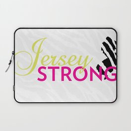 Jersey Strong Zebra Print w/ Pink text Laptop Sleeve