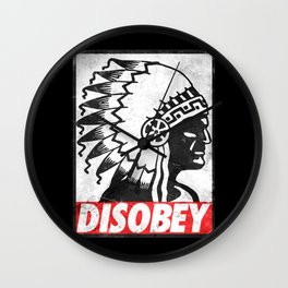 Indian disobey Wall Clock