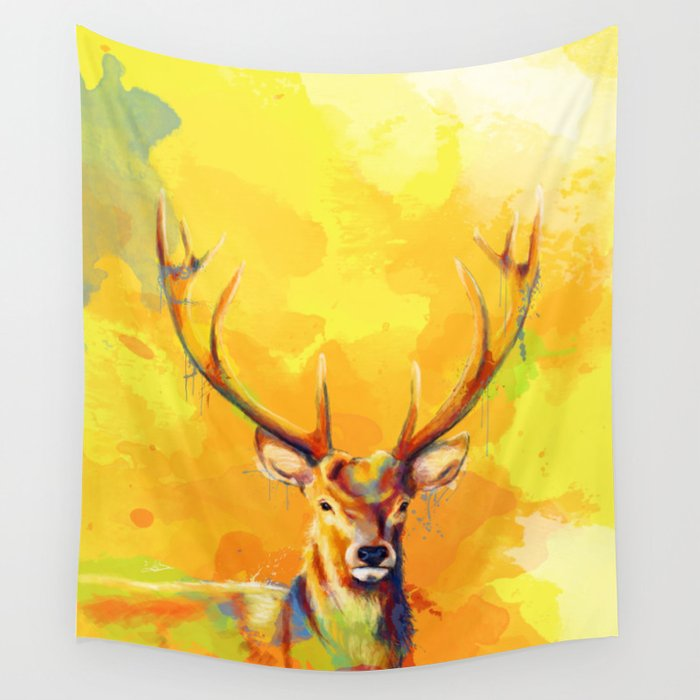 Forest King Deer Painting Wall Tapestry By Floartstudio Society6