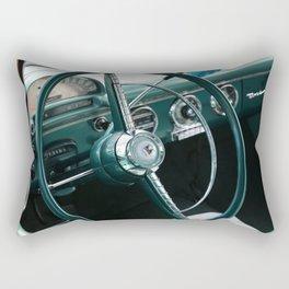 Vintage 1955 Fairlane Steering Wheel Rectangular Pillow