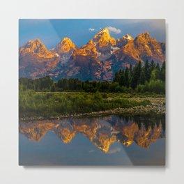 Grand Tetons Lake Reflections - Wyoming Metal Print