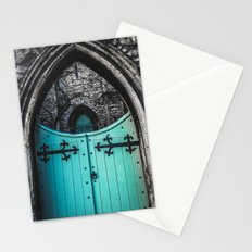 Blue Church Gates Stationery Cards