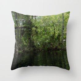 Silver Springs Shoreline, Florida Throw Pillow