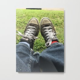 Adventure Shoes Take a Rest Metal Print
