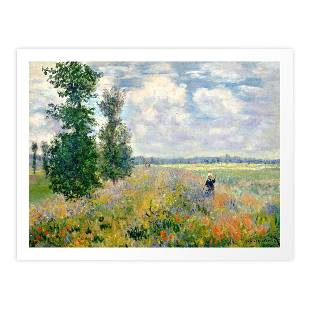 Poppy Fields Near Argenteuil By Claude Monet Art Print by vintage_archive