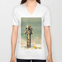 bath V-neck T-shirts featuring The Bath by ioanazdralea