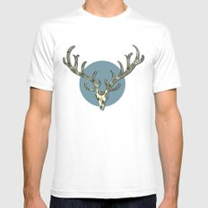 Antlers MEDIUM Mens Fitted Tee White