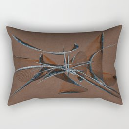 Stone Curve Abstract Rectangular Pillow