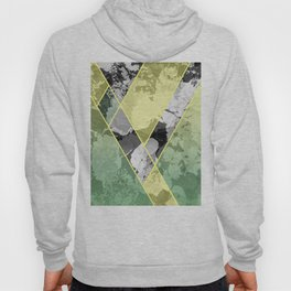 Contemporary Sunny Geometric Floral Pattern Hoody