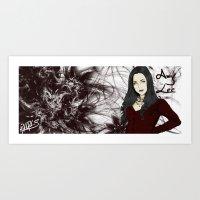 Amy lee Art Print