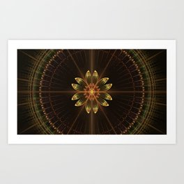 Brown mandala Art Print