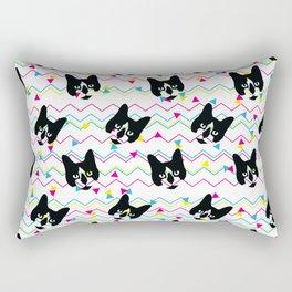 CMYK Cat Pattern Rectangular Pillow