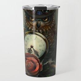 Sir Owl. Steampunk Travel Mug