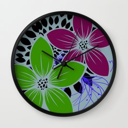 Flowers for One Wall Clock
