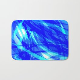 Vector glowing water background made of blue sea lines. Bath Mat