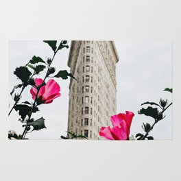 Pink Flowers in New York City (Color) Rug