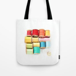 Colorful Needle and Thread Tote Bag