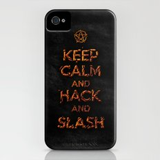 Keep Calm and Hack and Slash iPhone (4, 4s) Slim Case