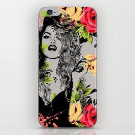 Smoky Flower Girl iPhone Skin