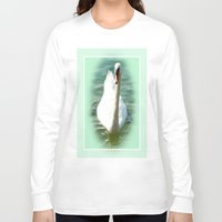 swan queen Long Sleeve T-shirts featuring Swan by Art-Motiva