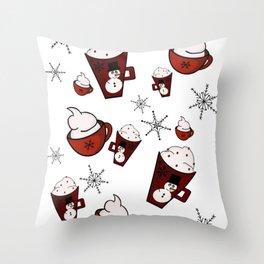 Christmas Mugs Throw Pillow