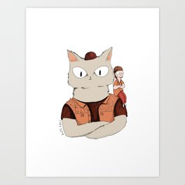 Walter the metal cat Art Print