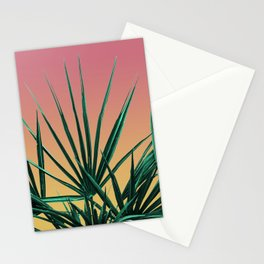 Vaporwave Palm Life - Miami Sunset Stationery Cards