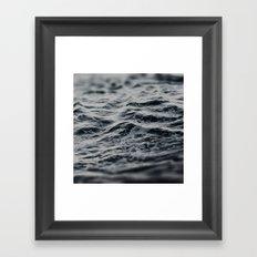 Ocean Magic Black and White Waves Framed Art Print