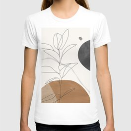 Abstract Art /Minimal Plant T-shirt