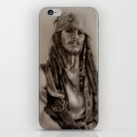 jack sparrow iPhone & iPod Skins featuring Captain Jack Sparrow by Svartrev