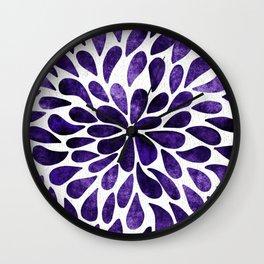 Petal Burst Ultra Violet Wall Clock